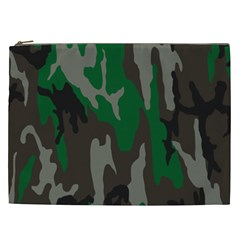 Army Green Camouflage Cosmetic Bag (XXL)