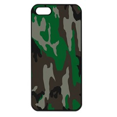 Army Green Camouflage Apple iPhone 5 Seamless Case (Black)