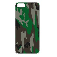 Army Green Camouflage Apple Iphone 5 Seamless Case (white)