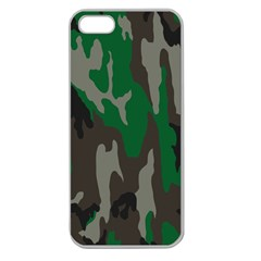 Army Green Camouflage Apple Seamless iPhone 5 Case (Clear)