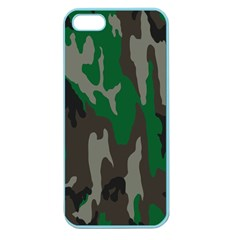 Army Green Camouflage Apple Seamless Iphone 5 Case (color)