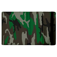 Army Green Camouflage Apple iPad 3/4 Flip Case
