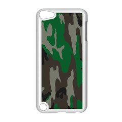 Army Green Camouflage Apple iPod Touch 5 Case (White)