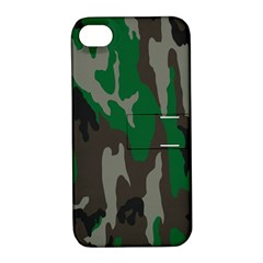 Army Green Camouflage Apple iPhone 4/4S Hardshell Case with Stand