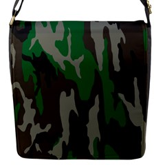 Army Green Camouflage Flap Messenger Bag (s)