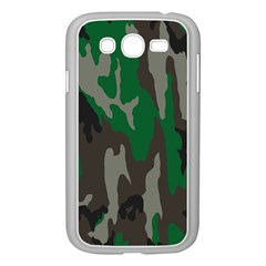 Army Green Camouflage Samsung Galaxy Grand DUOS I9082 Case (White)
