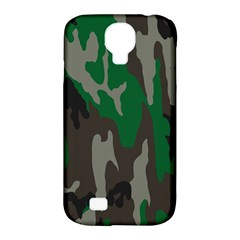 Army Green Camouflage Samsung Galaxy S4 Classic Hardshell Case (PC+Silicone)