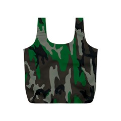 Army Green Camouflage Full Print Recycle Bags (s)