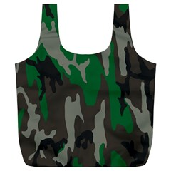 Army Green Camouflage Full Print Recycle Bags (l)