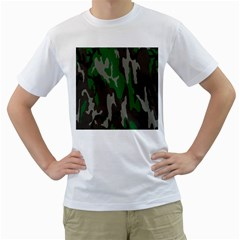 Army Green Camouflage Men s T-Shirt (White)