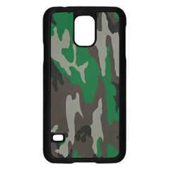 Army Green Camouflage Samsung Galaxy S5 Case (black)