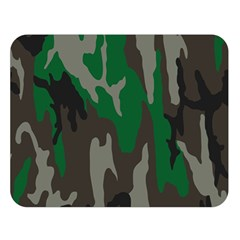Army Green Camouflage Double Sided Flano Blanket (large)