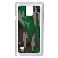 Army Green Camouflage Samsung Galaxy Note 4 Case (white)
