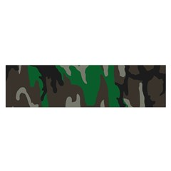 Army Green Camouflage Satin Scarf (oblong)