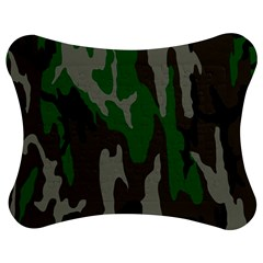 Army Green Camouflage Jigsaw Puzzle Photo Stand (Bow)