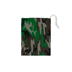 Army Green Camouflage Drawstring Pouches (xs)