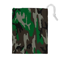 Army Green Camouflage Drawstring Pouches (extra Large)