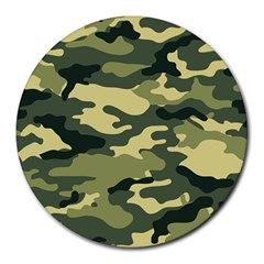 Camouflage Camo Pattern Round Mousepads