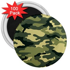 Camouflage Camo Pattern 3  Magnets (100 Pack)