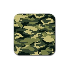 Camouflage Camo Pattern Rubber Square Coaster (4 Pack)