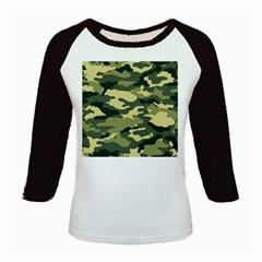 Camouflage Camo Pattern Kids Baseball Jerseys