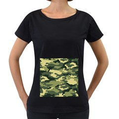Camouflage Camo Pattern Women s Loose-Fit T-Shirt (Black)