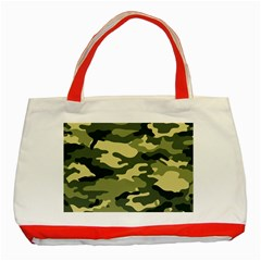 Camouflage Camo Pattern Classic Tote Bag (Red)