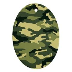 Camouflage Camo Pattern Oval Ornament (two Sides)