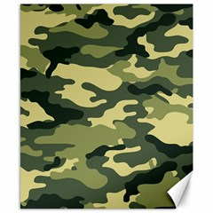 Camouflage Camo Pattern Canvas 8  x 10