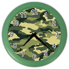 Camouflage Camo Pattern Color Wall Clocks