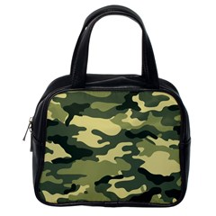 Camouflage Camo Pattern Classic Handbags (One Side)