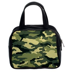 Camouflage Camo Pattern Classic Handbags (2 Sides)