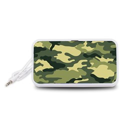 Camouflage Camo Pattern Portable Speaker (white)