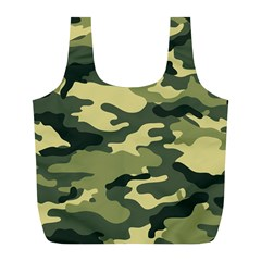 Camouflage Camo Pattern Full Print Recycle Bags (l)