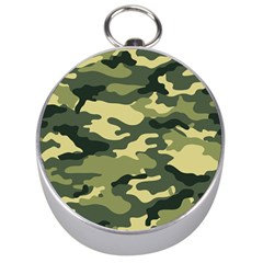 Camouflage Camo Pattern Silver Compasses