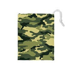 Camouflage Camo Pattern Drawstring Pouches (medium)