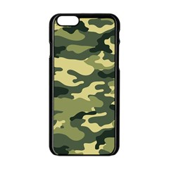 Camouflage Camo Pattern Apple Iphone 6/6s Black Enamel Case