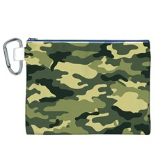 Camouflage Camo Pattern Canvas Cosmetic Bag (xl)