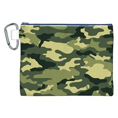 Camouflage Camo Pattern Canvas Cosmetic Bag (xxl)