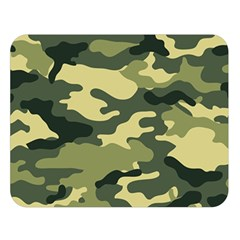 Camouflage Camo Pattern Double Sided Flano Blanket (large)