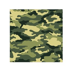 Camouflage Camo Pattern Small Satin Scarf (Square)