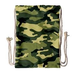 Camouflage Camo Pattern Drawstring Bag (Large)