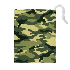 Camouflage Camo Pattern Drawstring Pouches (Extra Large)
