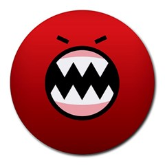 Funny Angry Round Mousepads