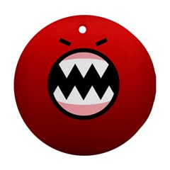 Funny Angry Ornament (Round)