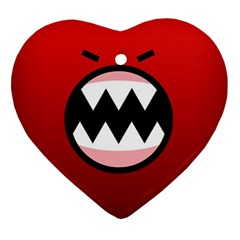 Funny Angry Ornament (Heart)