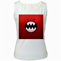 Funny Angry Women s White Tank Top