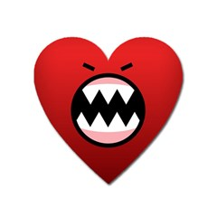 Funny Angry Heart Magnet