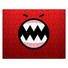 Funny Angry Rectangular Jigsaw Puzzl