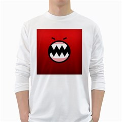 Funny Angry White Long Sleeve T-Shirts
